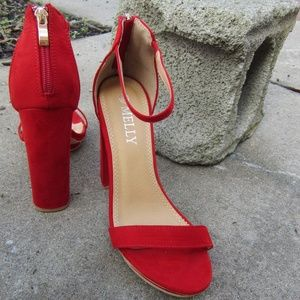 melly Shoes - Like New Melly Platform Cherry Red Strappy Heels